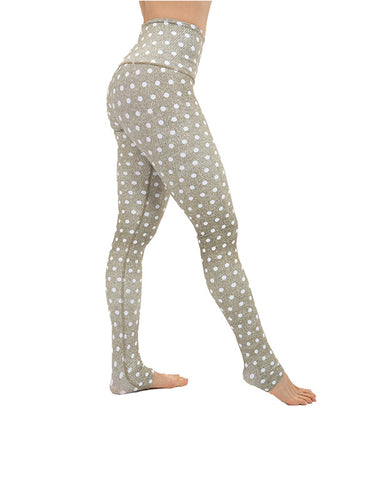 Milky Polka Leggings High Waisted
