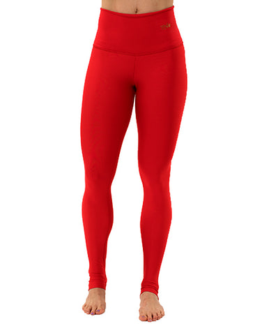 Classic Red Leggings High Waist