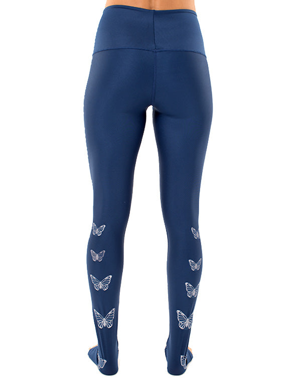 Silver Butterflies Leggings High Waist