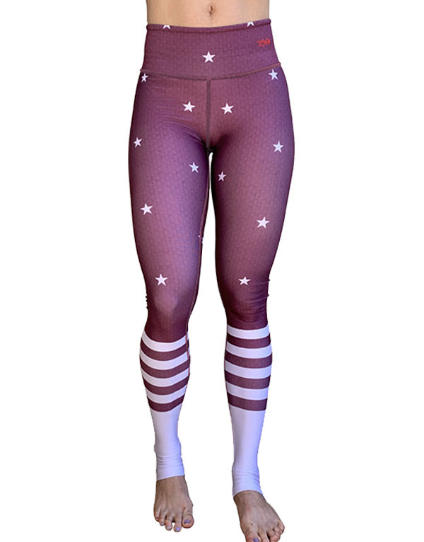 Four Stripes-Stars Leggings