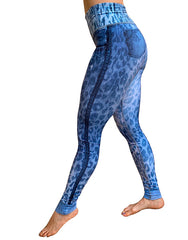 Blue Cheetah Denim Leggings