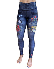 Tiger Denim Leggings