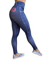 Heart Pocket Denim Leggings
