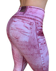 Pink Acid Wash Bellbottom Pants