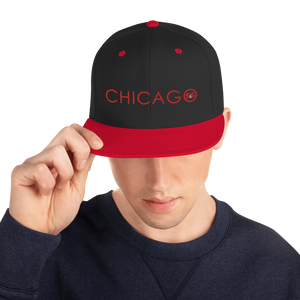 "Classic 3D-Puff Embroidered ""Chicago"" Snapback Hat 