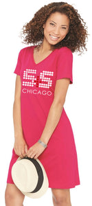 Women's V-Neck Fine Jersey Cover-up