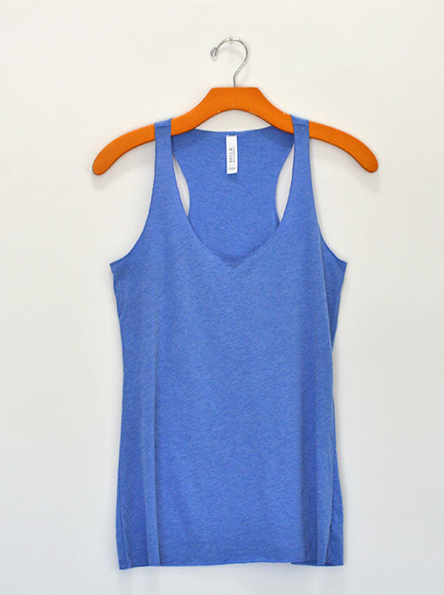 Blue Heathered Racerback Tank