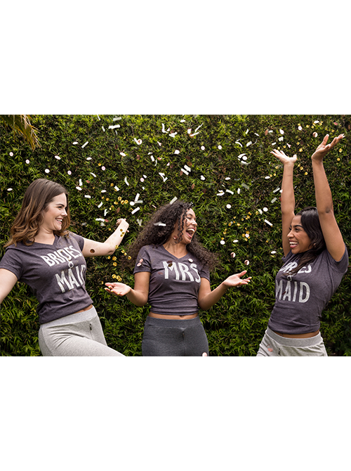 Bridesmaid Glitter Gray Tee