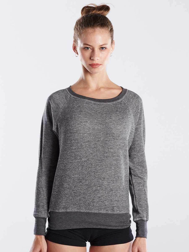 Women's French Terry Raglan Boat Neck