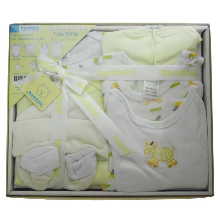 Bambini 7 Piece Gift Box - Yellow  - Made in USA