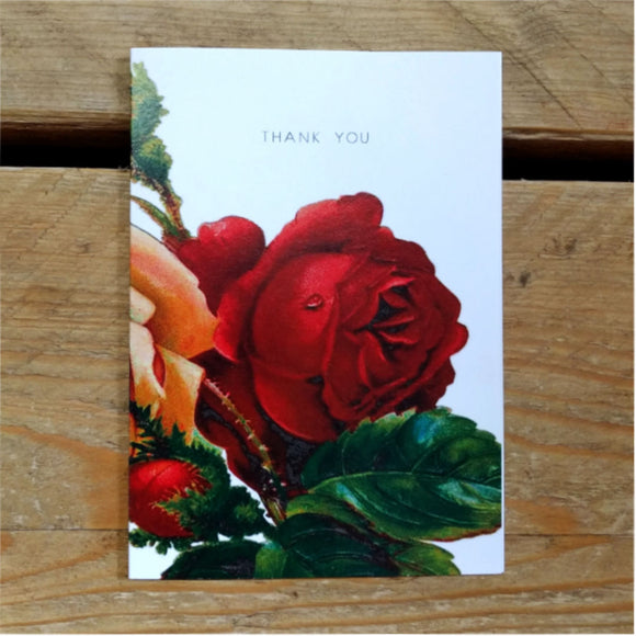 Red Rose folded thank you