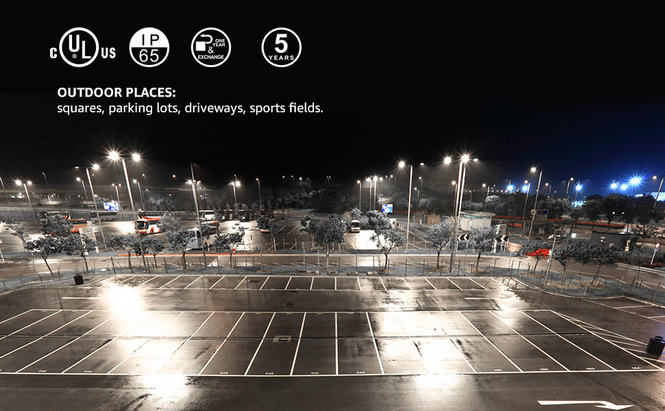 Where can we use parking lot light and how to select it?