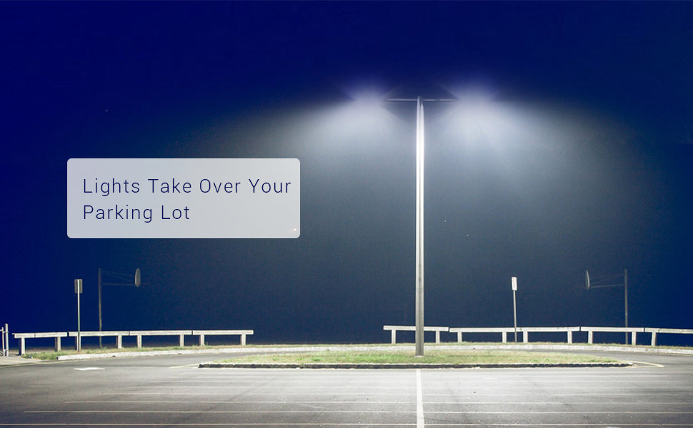 How many lumens do you need to lit up a parking lot?