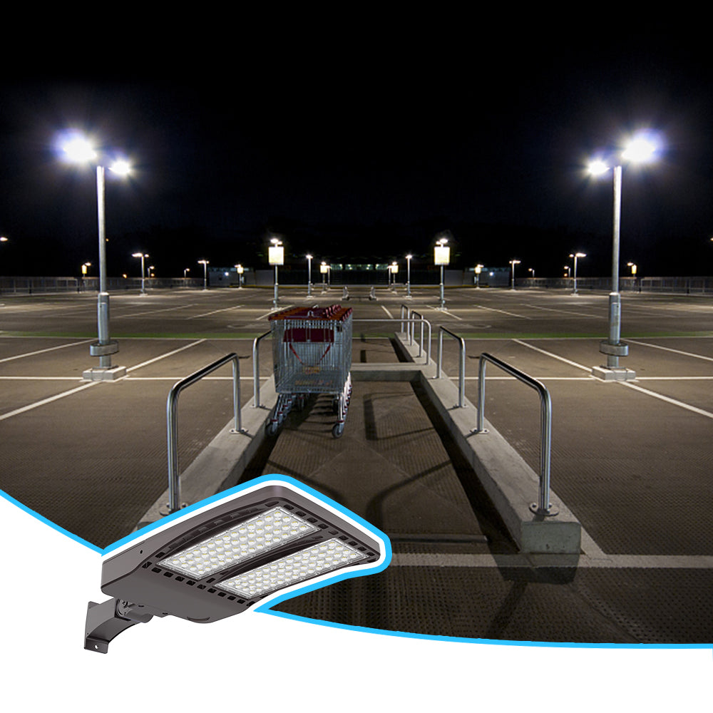 What are the benefits of LED Parking lot lights with photocell?