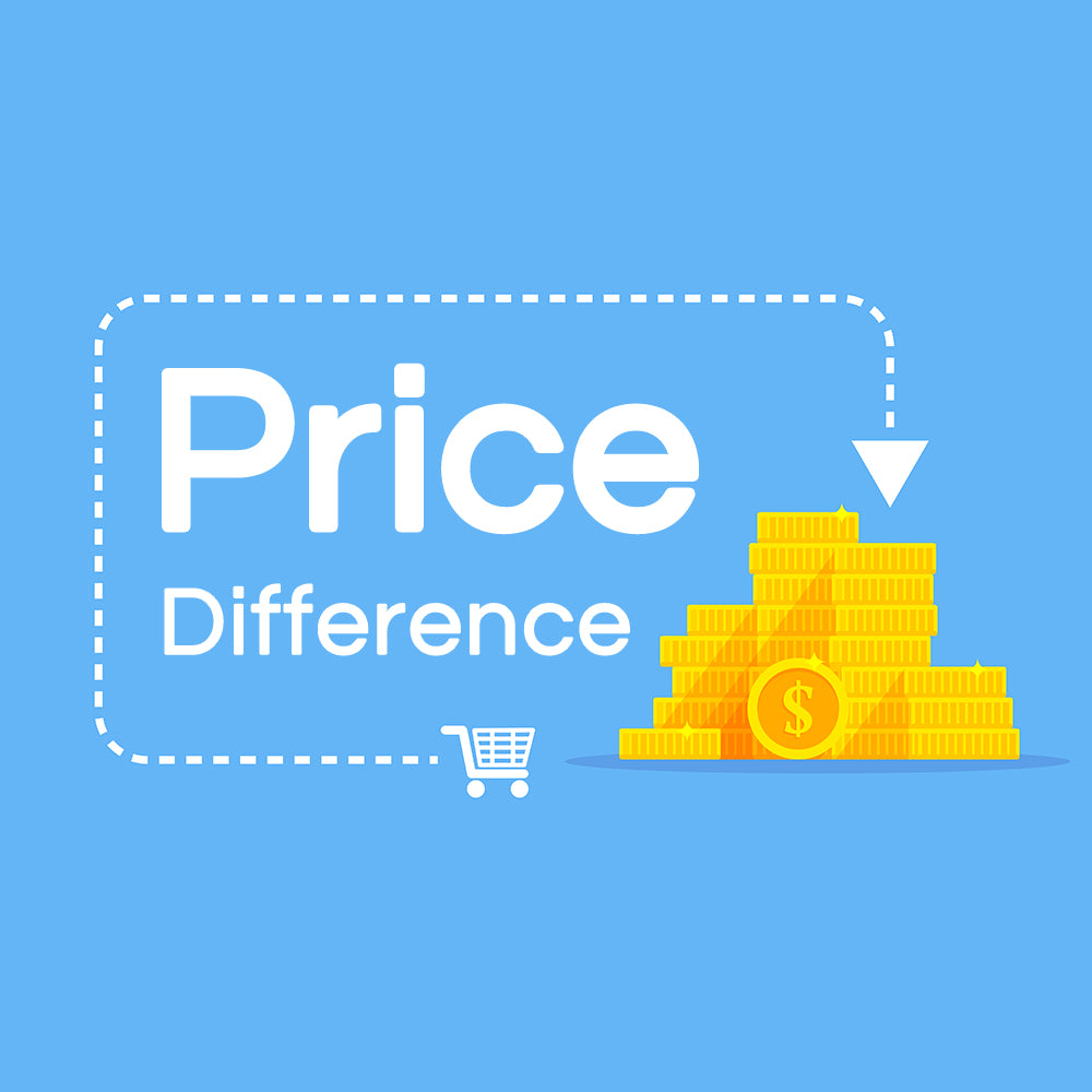 Price difference - Processing fee&Shipping cost