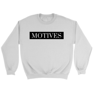 Classic MOTIVES Crewneck - White - Motives WorldWide