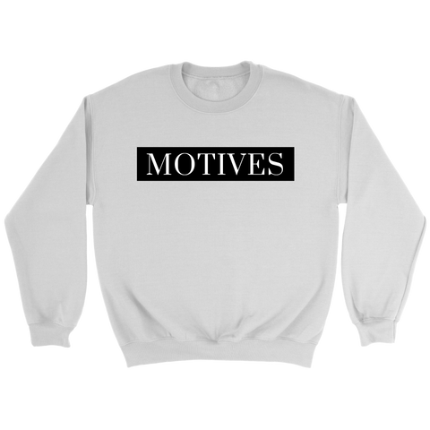 Classic MOTIVES Crewneck - White