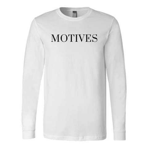 Logo Long Sleeve - White | Motives