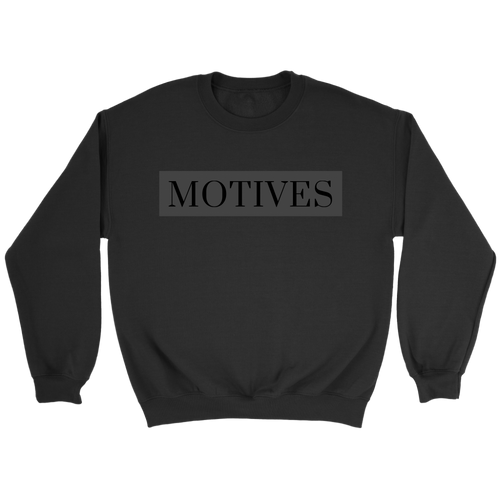 Classic Motives Crewneck - Black - Motives WorldWide