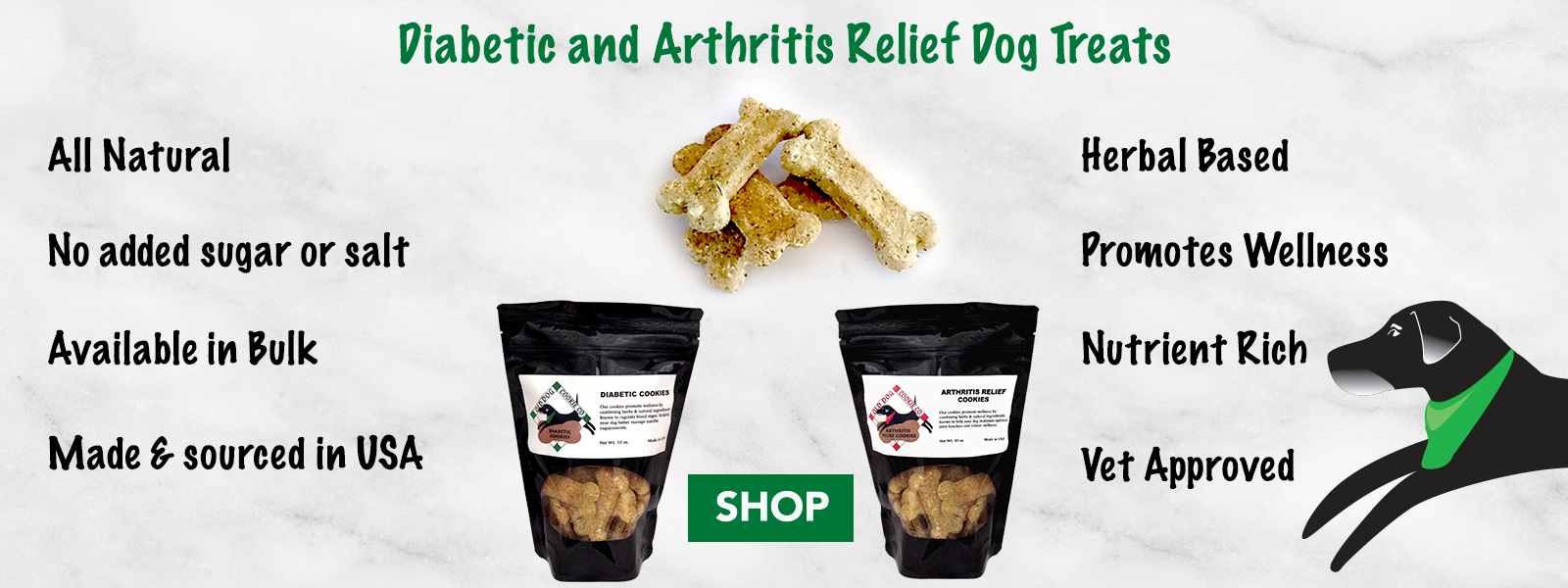 Old Dog Cookie Co Diabetic Dog Treats And Arthritis Relief Dog Treats