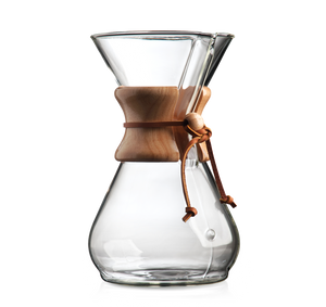 6 and 8 cup Chemex Coffee Maker available for sale at Sly and Sons specialty Coffee Roasters