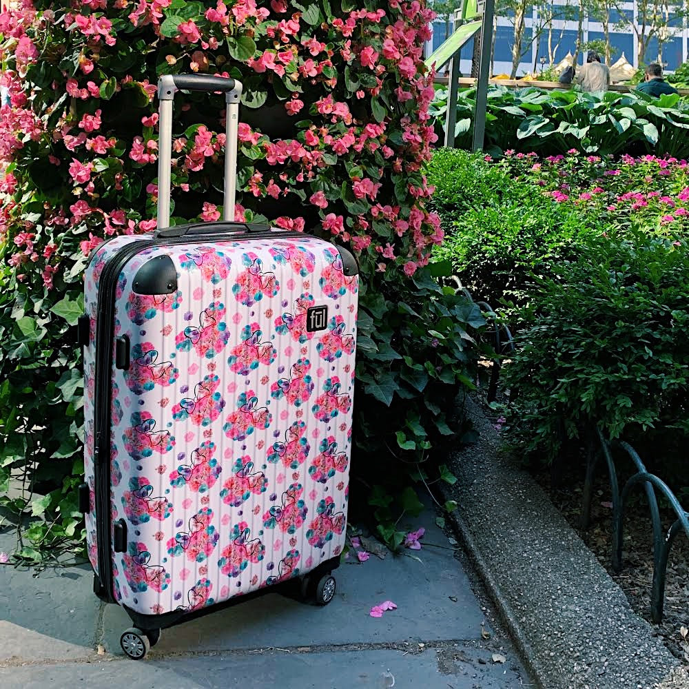 SAVE 68% On FŪL Disney Minnie Mouse Floral Hardsided Luggage Set!
