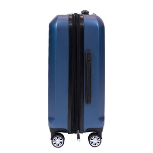 Curve Geo 21 Inch Expandable Spinner Rolling Luggage, Midnight