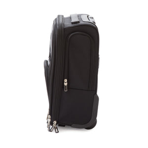 Crosby Carry-On Luggage, Narrow Profile for Underseat Storage, Black
