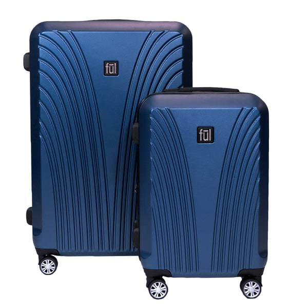 Curve Geo 2 Piece Luggage Set, Spinner Rolling Suitcases, 29 in and 21in Sizes, Midnight