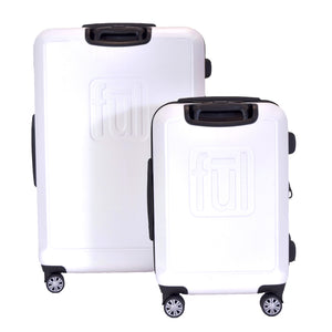 Scribble Nested 2 Piece Luggage Set, Spinner Rolling Luggage Suitcases, 29in, and 21in Sizes