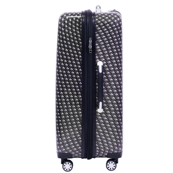 Metal Chain Swirl 28in Hardisded Spinner Luggage, Black