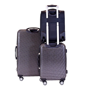 Metal Chain Swirl 3 Piece Luggage Set, 28in, 20in, 16in Suitcases, Black
