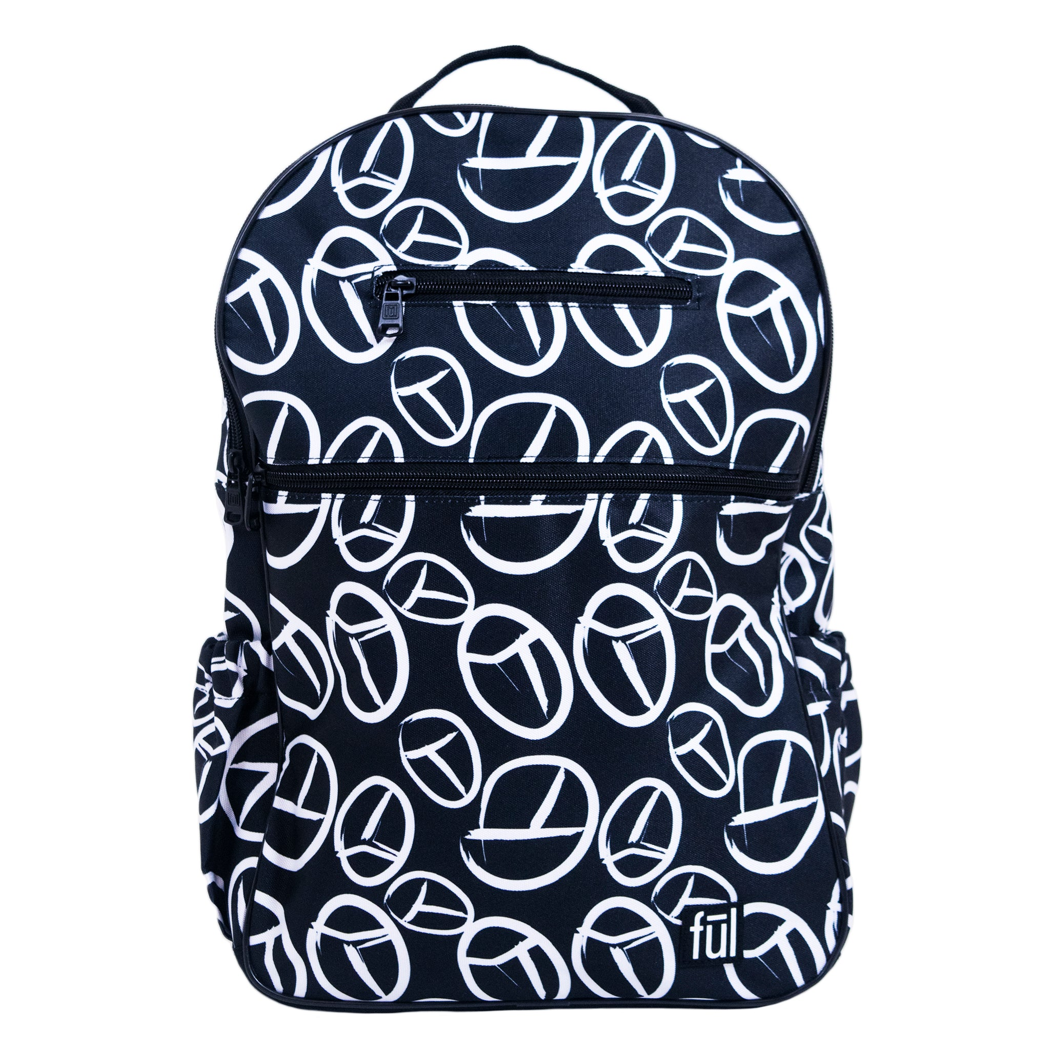Accra Fashion Laptop Backpack, Black Peace Sign