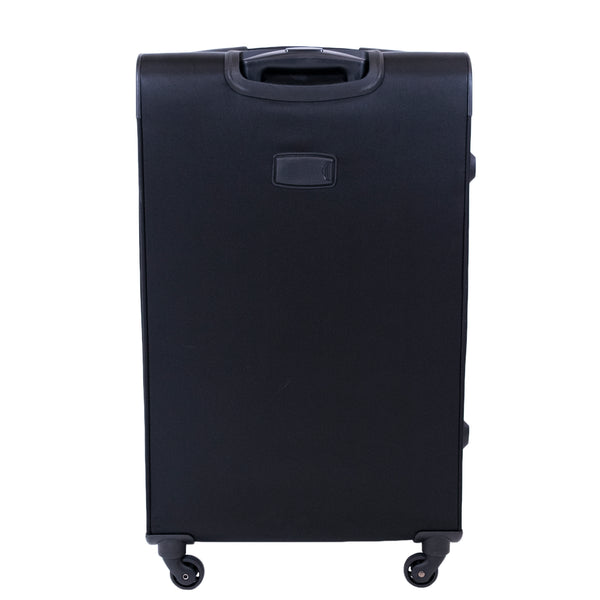 Flemington 29in Soft Sided Rolling Luggage Suitcase, Black