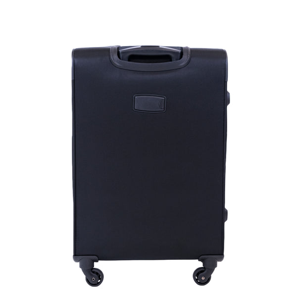 FUL Flemington 25in Soft Sided Rolling Luggage Suitcase, Black