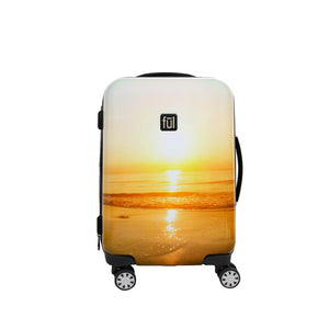 Sunset Photo 21in Hard Sided Rolling Luggage