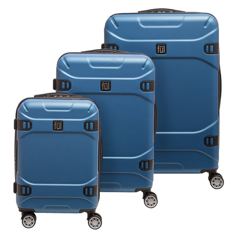 79f6150ab Molded Detail Hard Sided 3 Piece Luggage Set, 29, 25, and 21in Suitcases