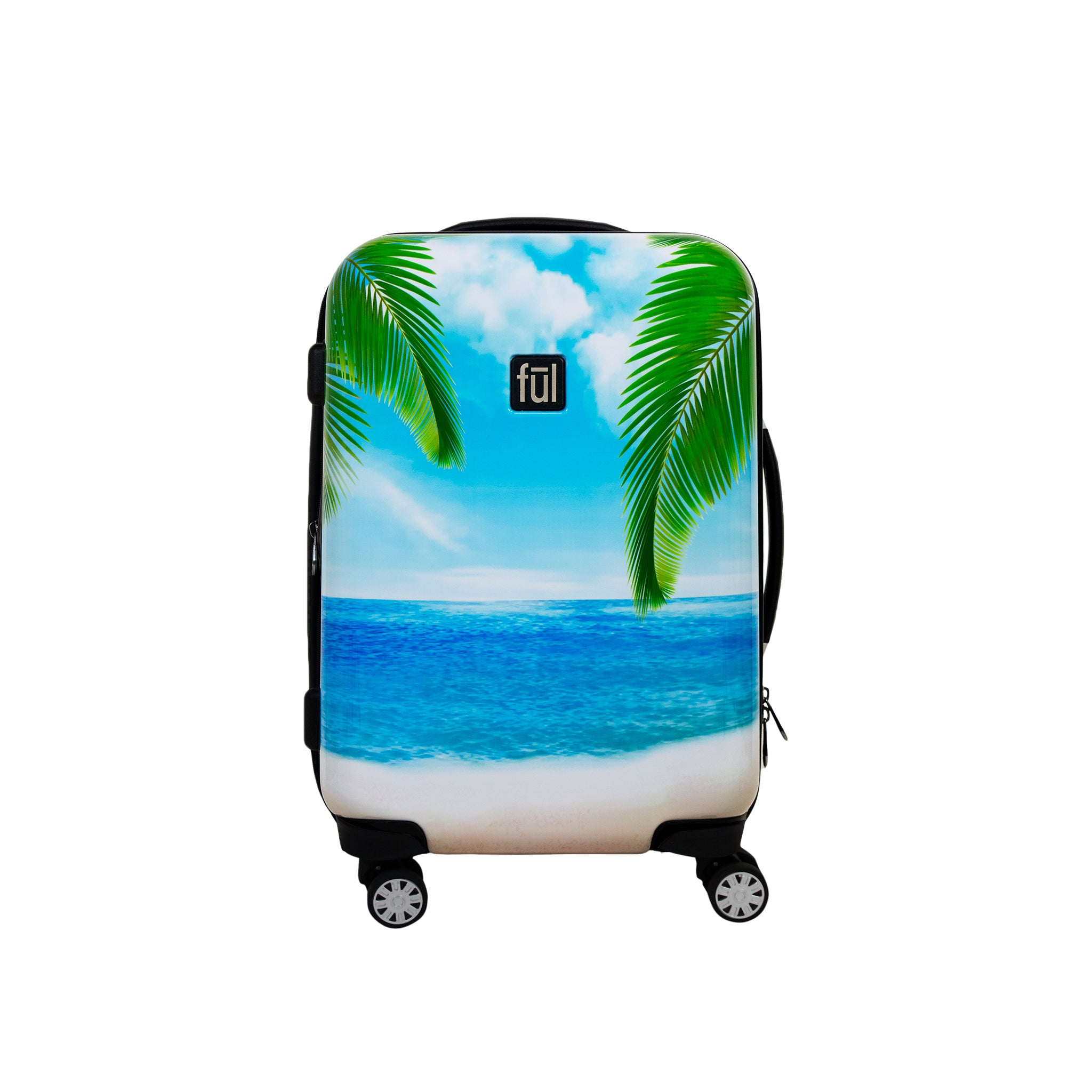 Tropical Beach 21in Hard Sided Rolling Luggage