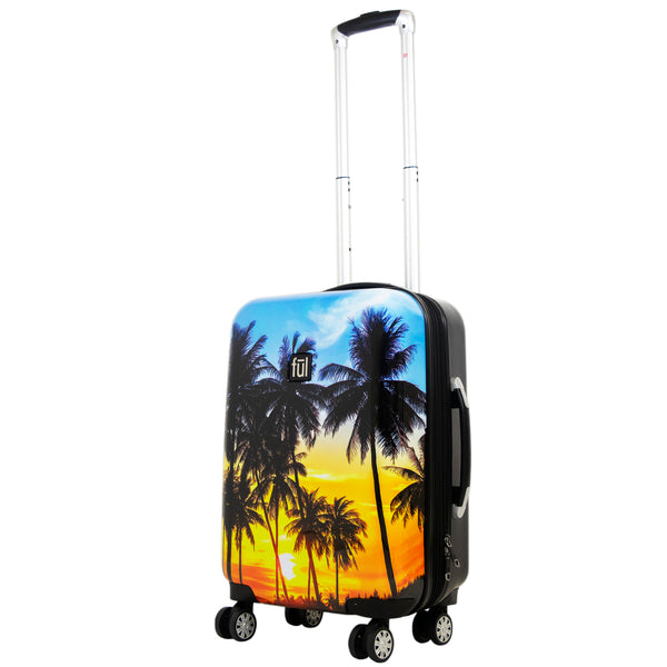 Tropical Palm Sun 21in Hard Sided Rolling Luggage