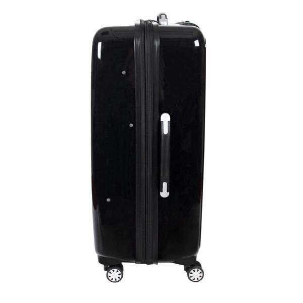 Printed Rose 29in Hard Sided Rolling Luggage, Black