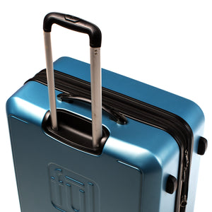 Scribble 21 Inch Expandable Spinner Rolling Luggage, Carolina Blue