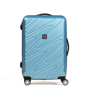 Scribble 25 Inch Spinner Rolling Luggage Suitcase, Carolina Blue