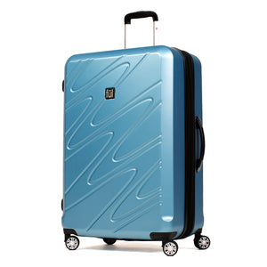 Scribble 29 Inch Expandable Spinner Rolling Luggage, Carolina Blue