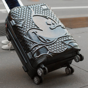 Disney Textured  Mickey Hard Sided Luggage