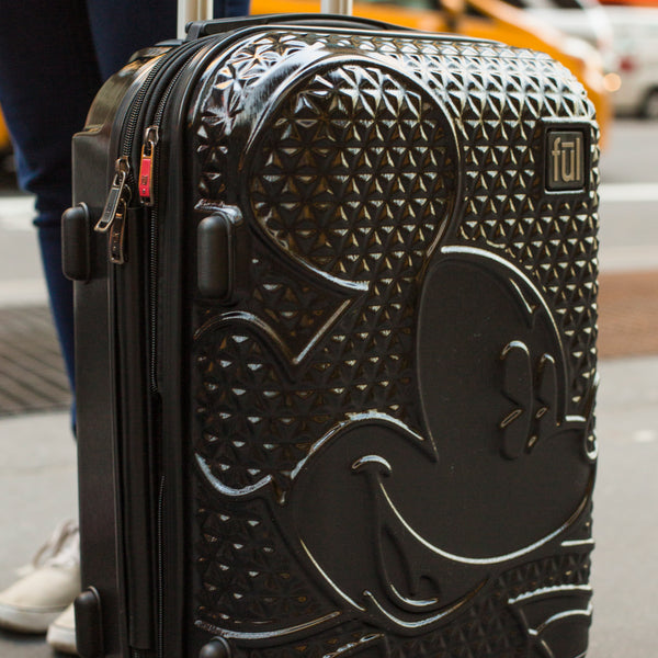 FŪL Disney Textured Mickey Mouse 29in Hard Sided Rolling Luggage-Ful Luggage-Christmas-Sale!-50%-Off-with-code-HolidayFul50