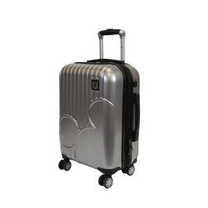 Disney Molded Mickey Icon 21in Hardsided  Rolling Luggage, Silver