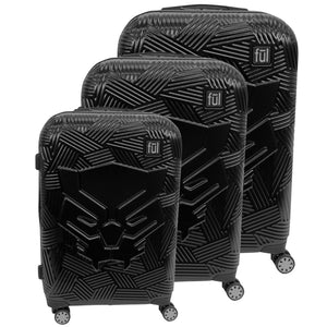 Marvel Black Panther Icon Molded Hard Sided 3 Piece Luggage Set, 29, 25, and 21in Suitcases