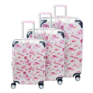 Disney Princess Badges FŪL Rolling Luggages 3Pcs Set