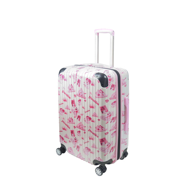 "Disney Princesses Badges FŪL 25"" Rolling suitcase-Ful Luggage-Christmas-Sale!-50%-Off-with-code-HolidayFul50"