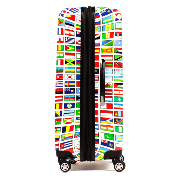 Flags 24in Spinner Rolling Luggage Suitcase